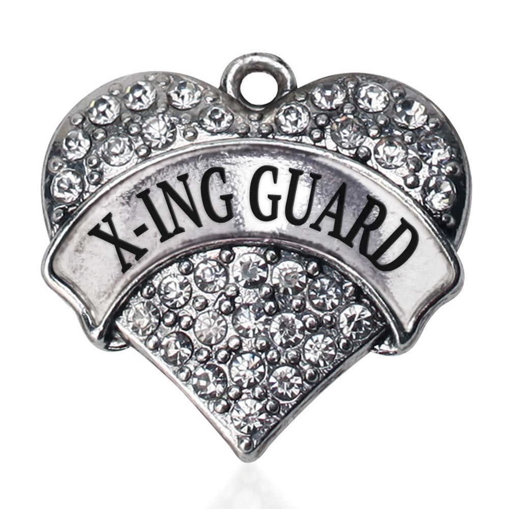 X-ing Guard Pave Heart Charm