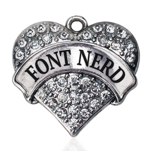 Font Nerd Pave Heart Charm