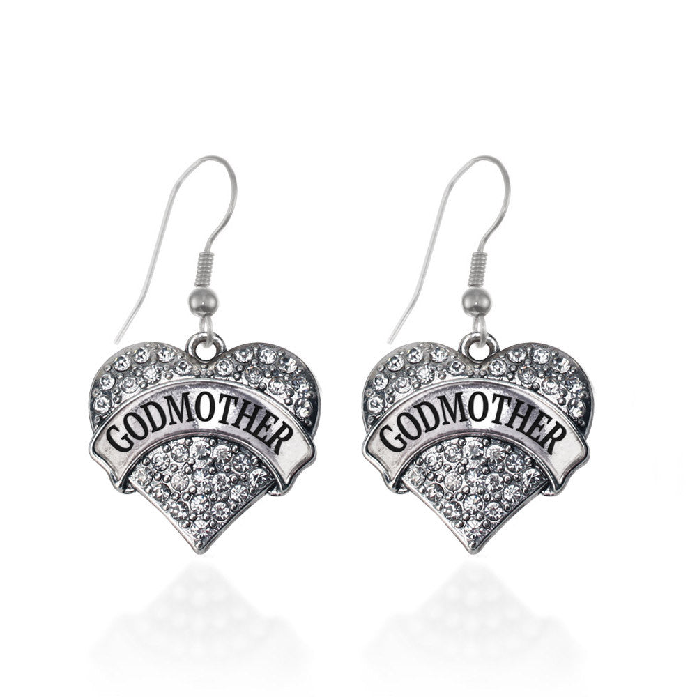 Godmother Pave Heart Charm