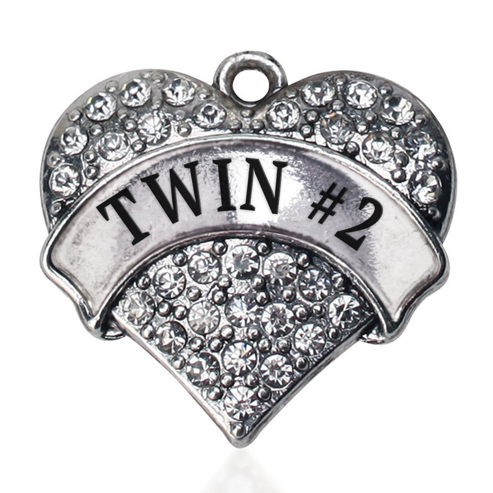 Twin #2 Pave Heart Charm