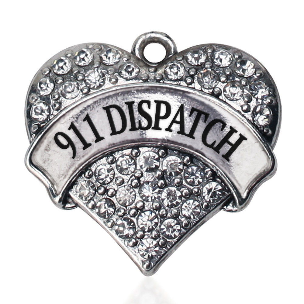 911 Dispatch Pave Heart Charm