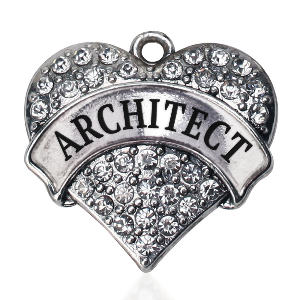 Architect Pave Heart Charm
