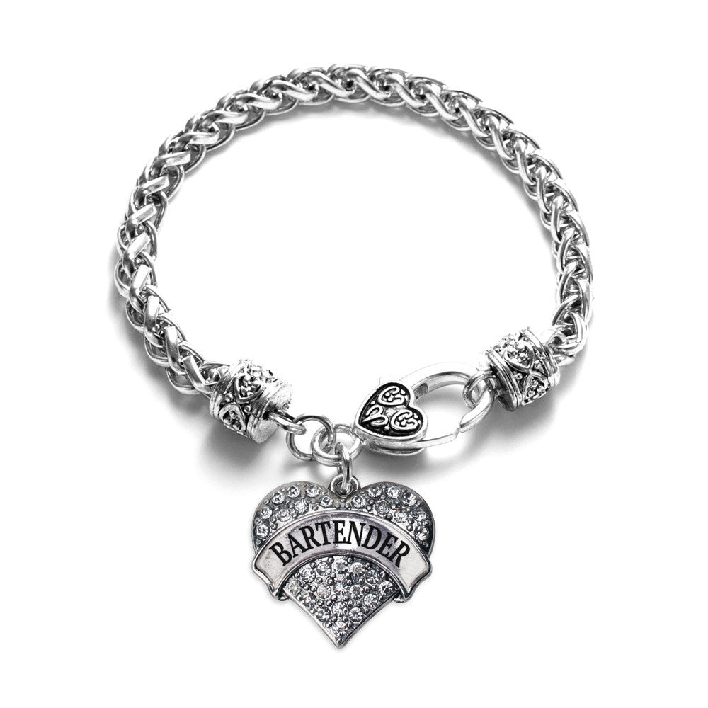Bartender Pave Heart Charm