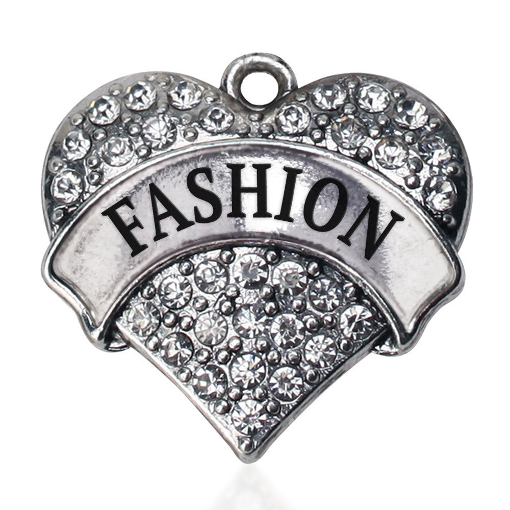 Fashion Pave Heart Charm