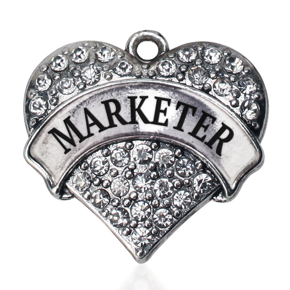 Marketer Pave Heart Charm