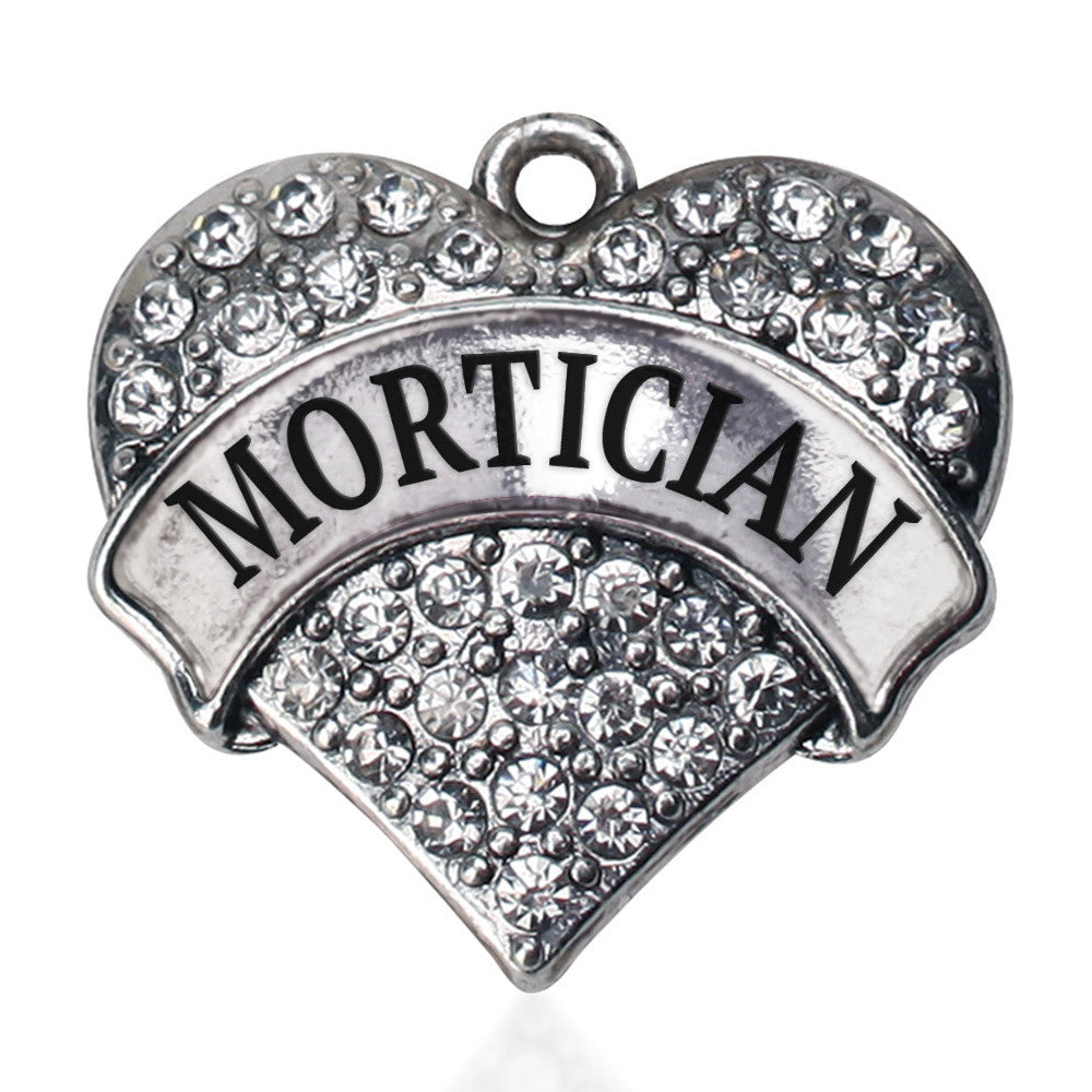 Mortician Pave Heart Charm