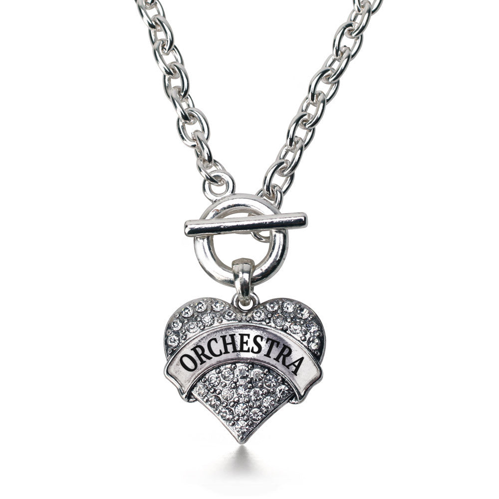 Orchestra Pave Heart Charm