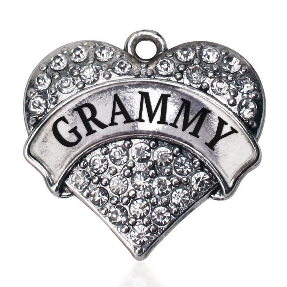 Grammy Pave Heart Charm