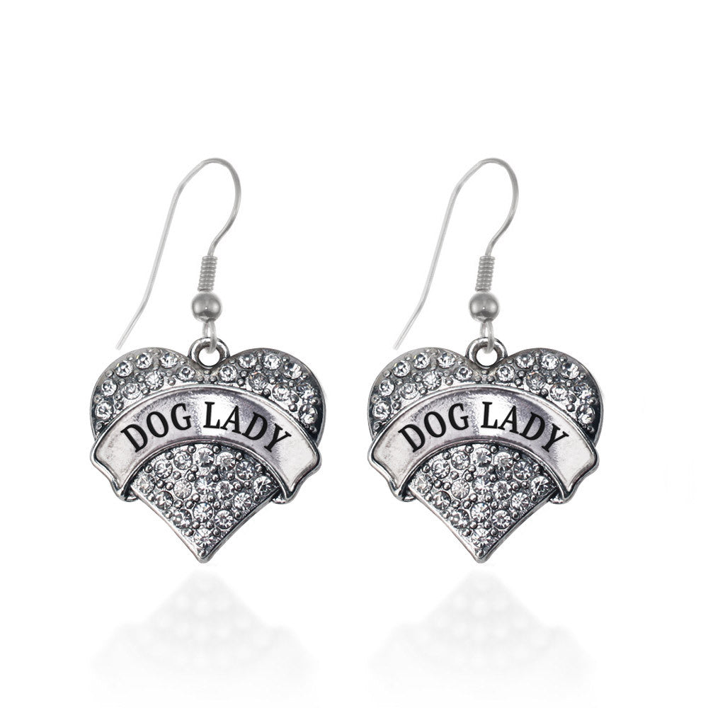 Dog Lady Pave Heart Charm