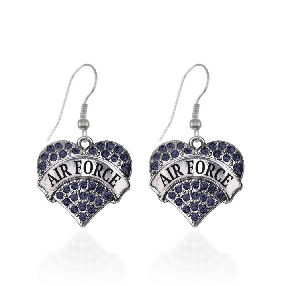 Air Force Pave Heart Charm