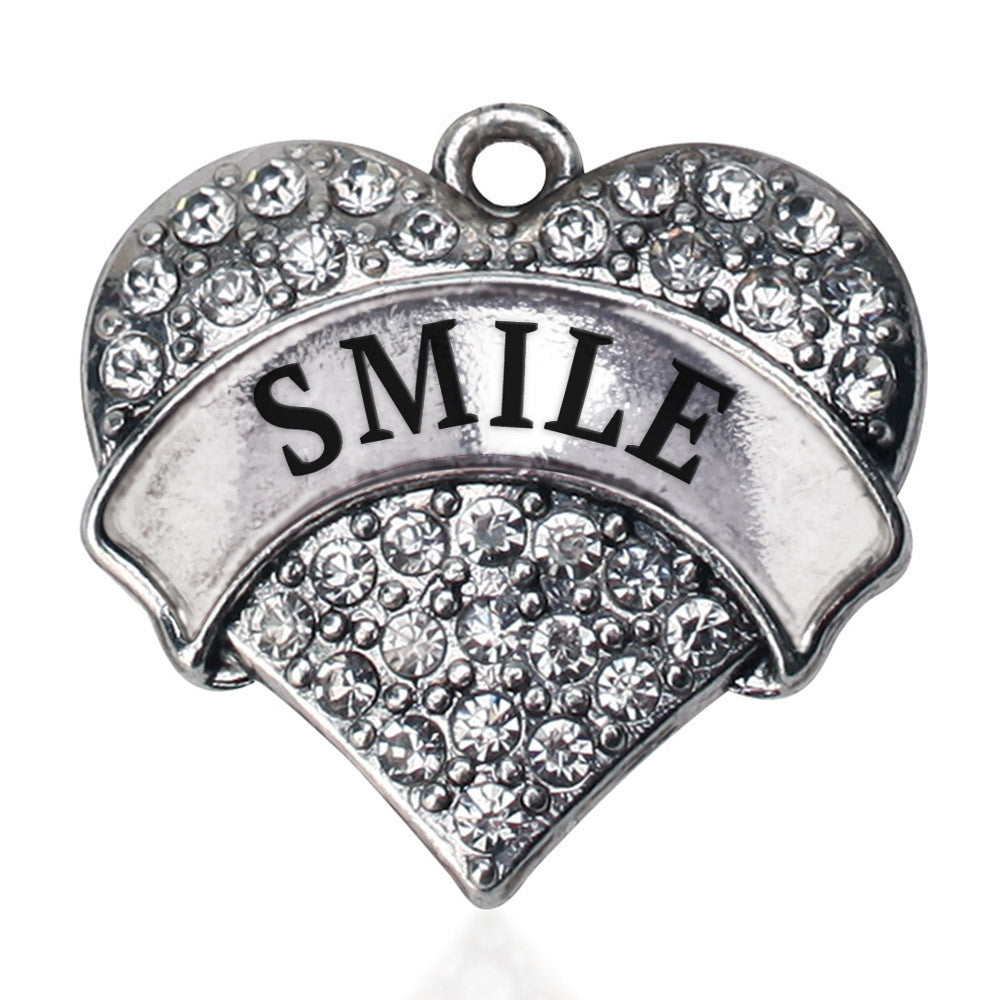 Smile Pave Heart Charm