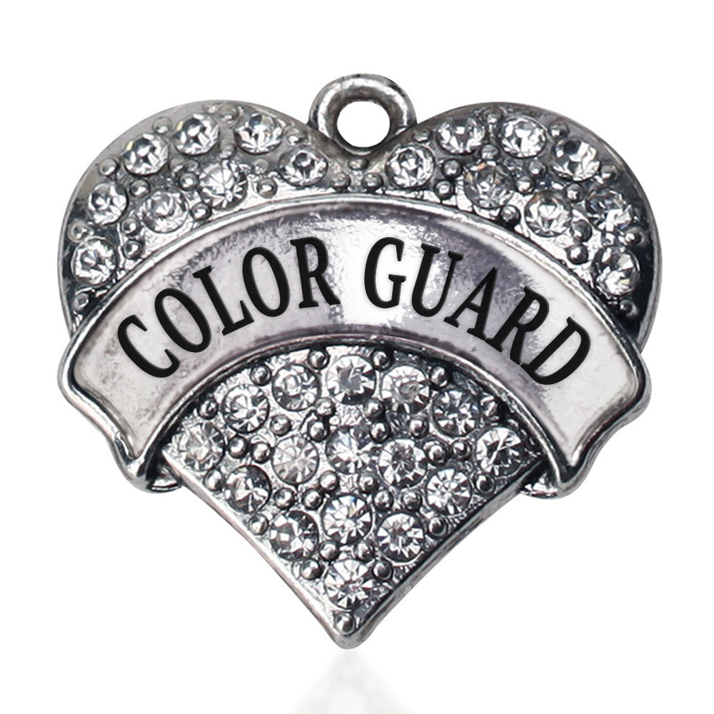Color Guard Pave Heart Charm