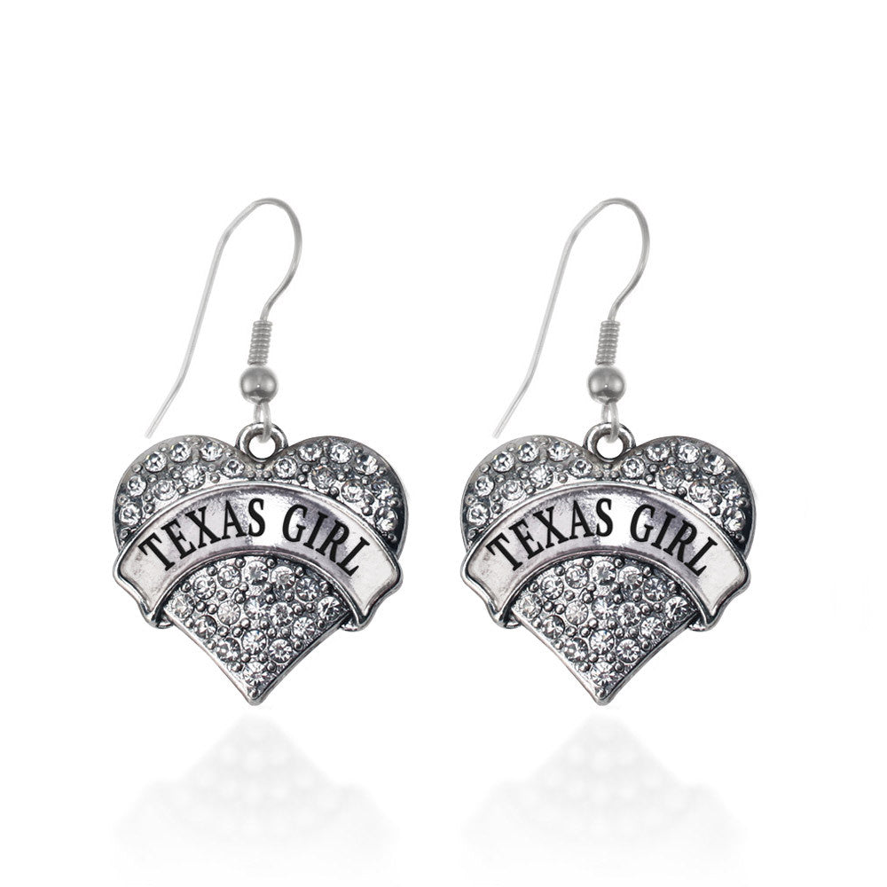 Texas Girl Pave Heart Charm