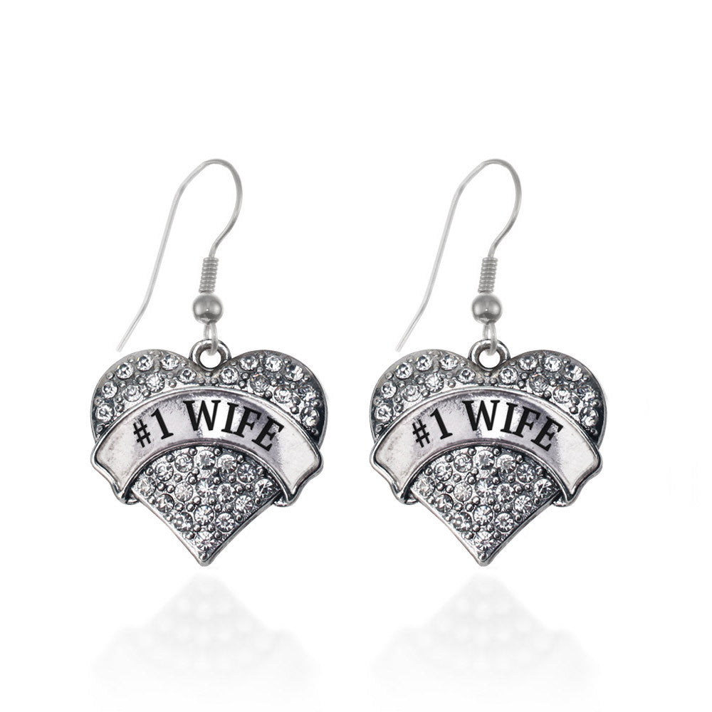 #1 Wife Pave Heart Charm