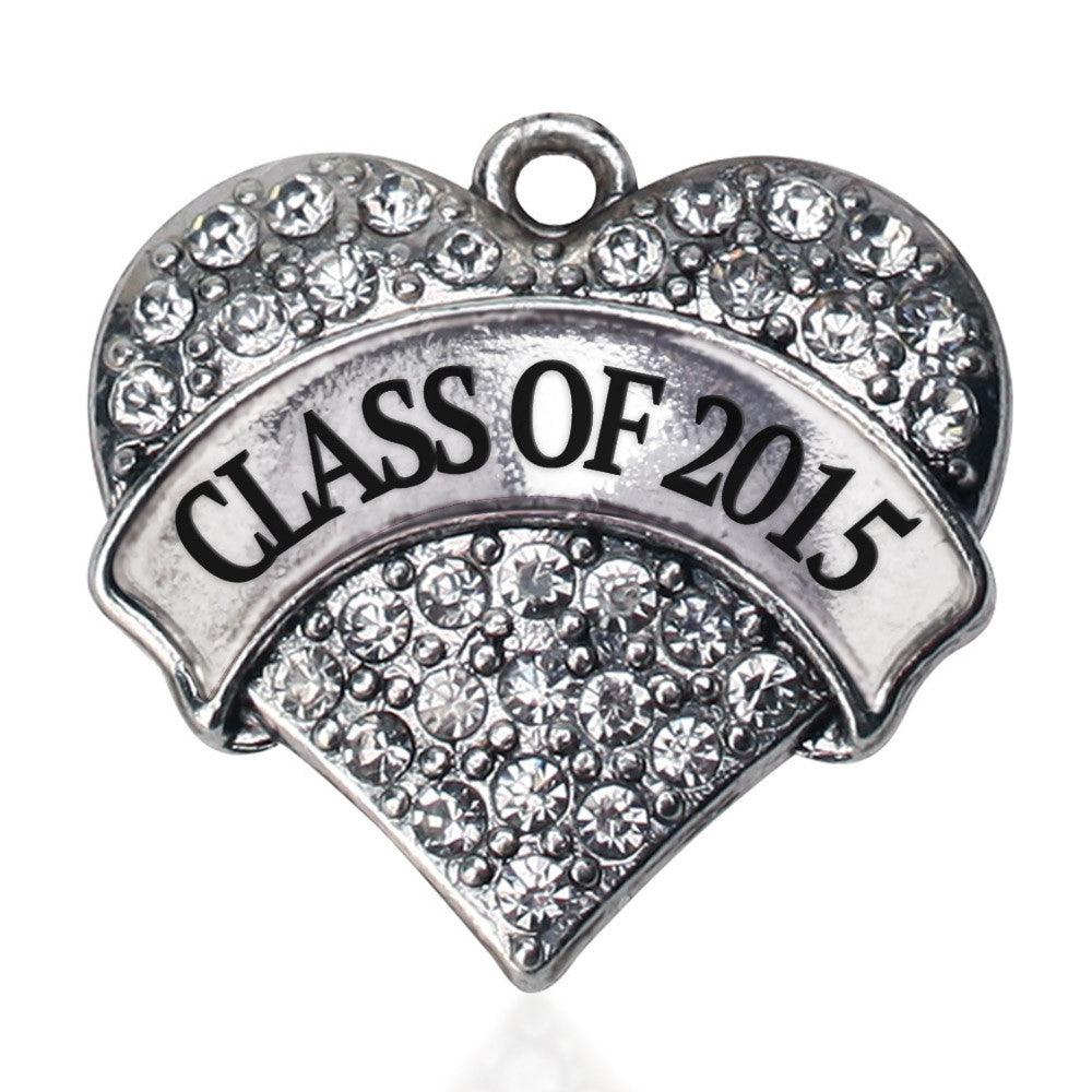 Class Of 2015 Pave Heart Charm