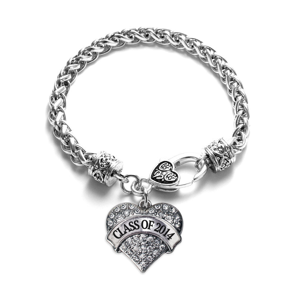 Class Of 2014 Pave Heart Charm