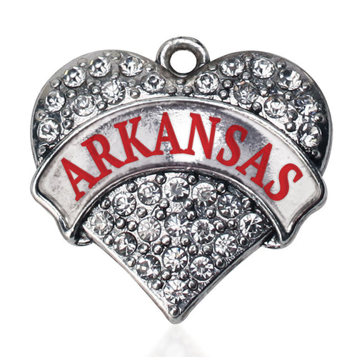 Arkansas Pave Heart Charm