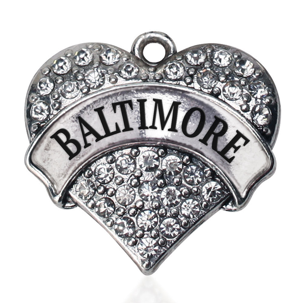 Baltimore Pave Heart Charm