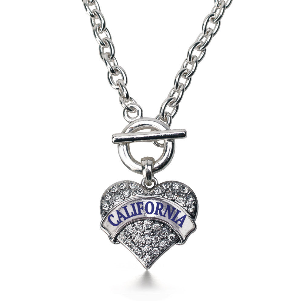 California Pave Heart Charm