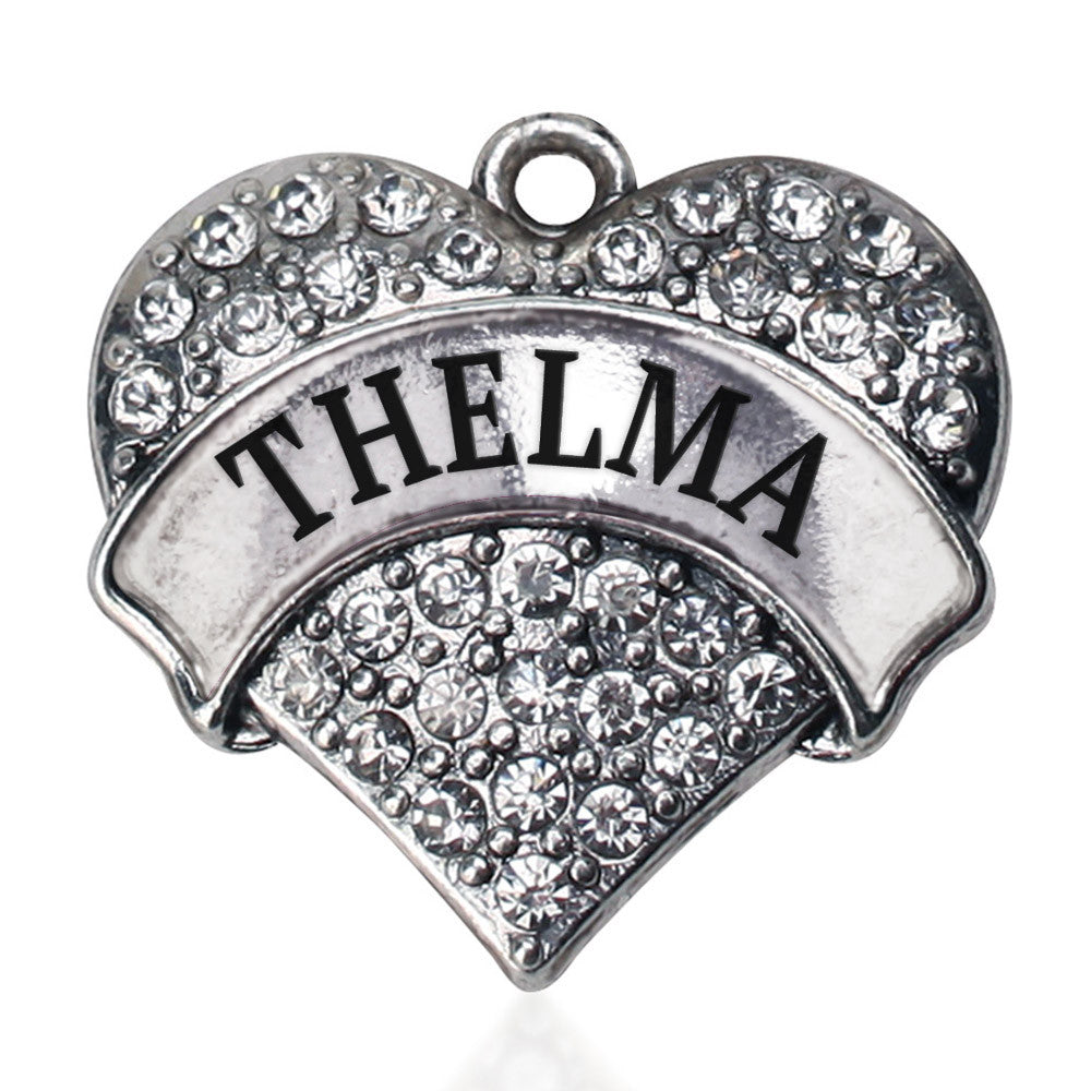 Thelma Pave Heart Charm