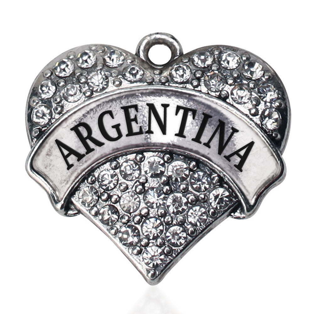 Argentina Pave Heart Charm