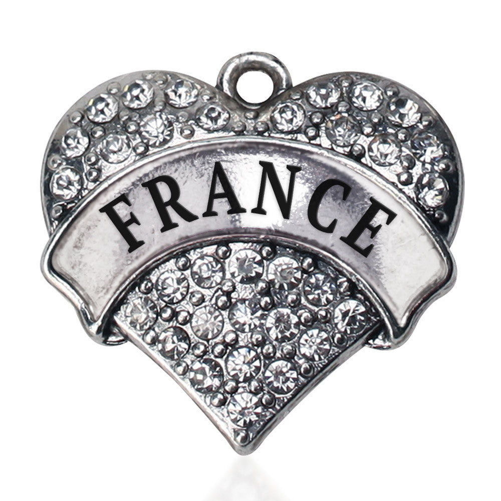 France Pave Heart Charm