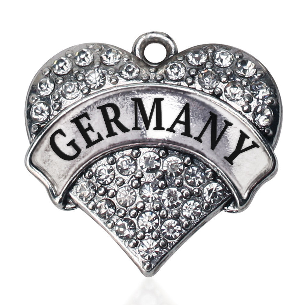 Germany Pave Heart Charm