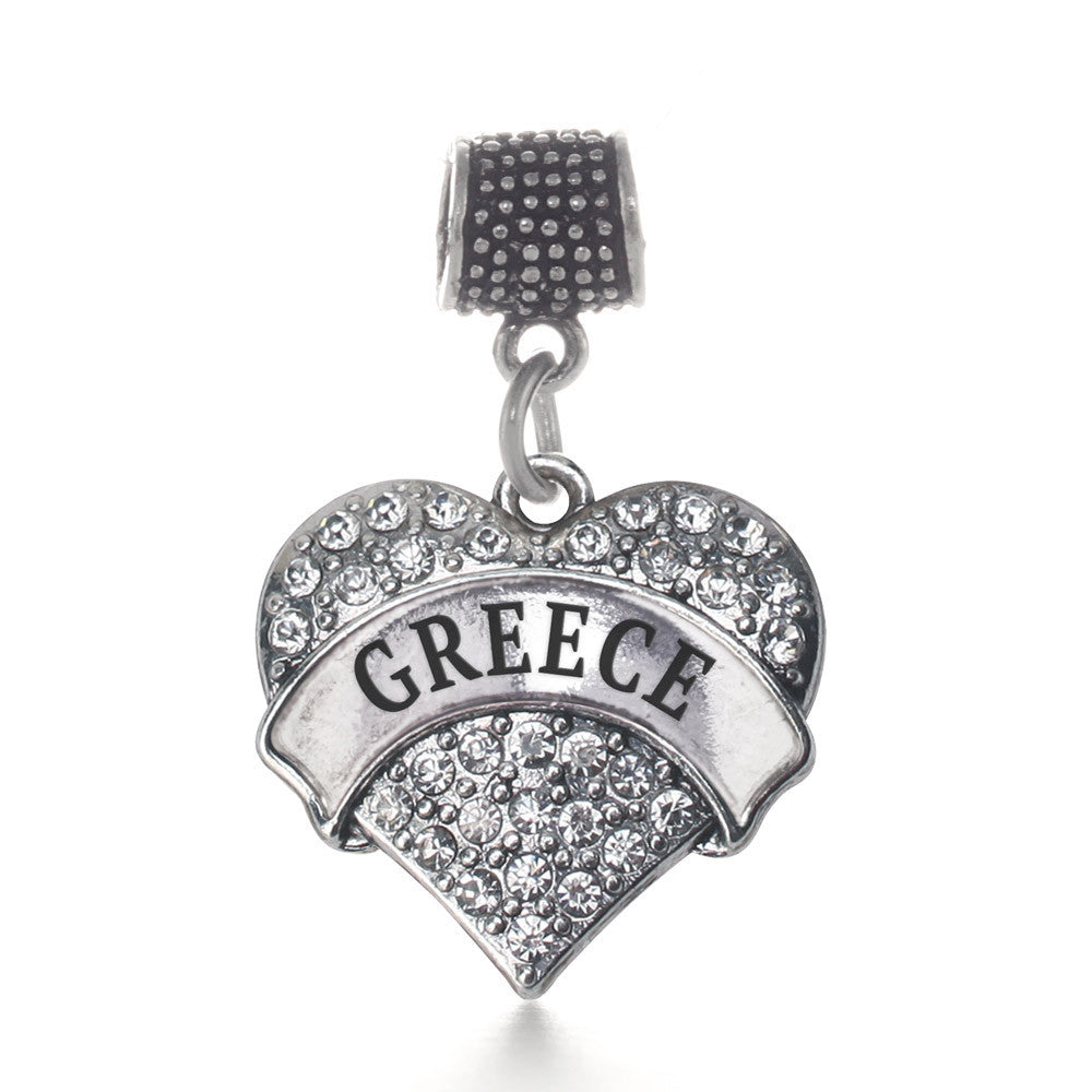 Greece Pave Heart Charm