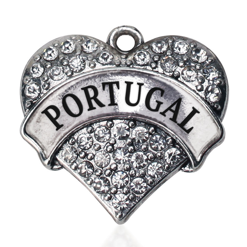Portugal Pave Heart Charm
