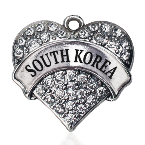 South Korea Pave Heart Charm