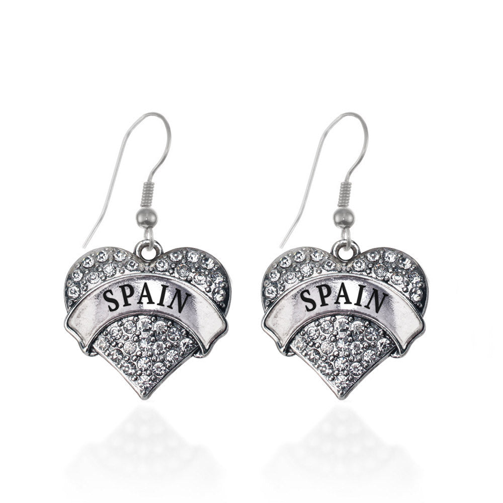 Spain Pave Heart Charm