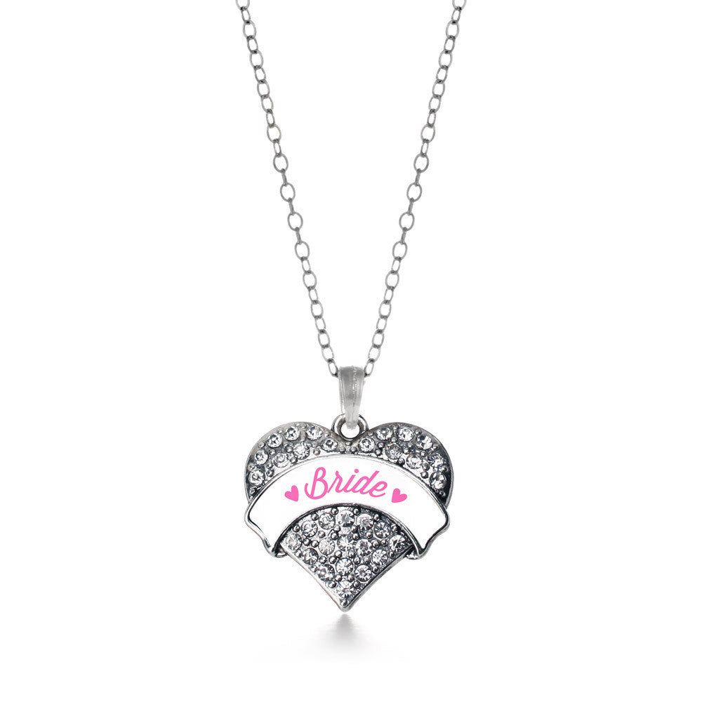 Bride Pave Heart Charm