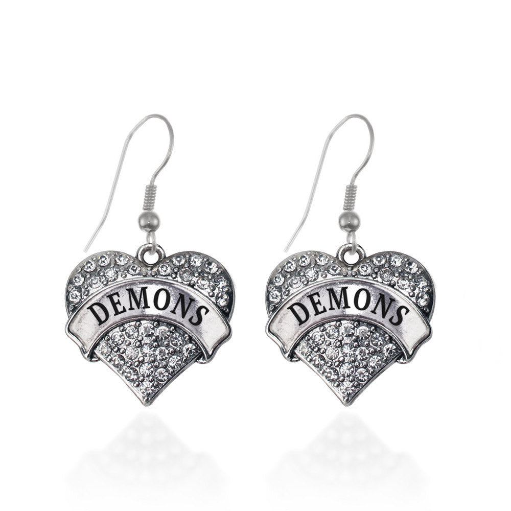 Demons Pave Heart Charm