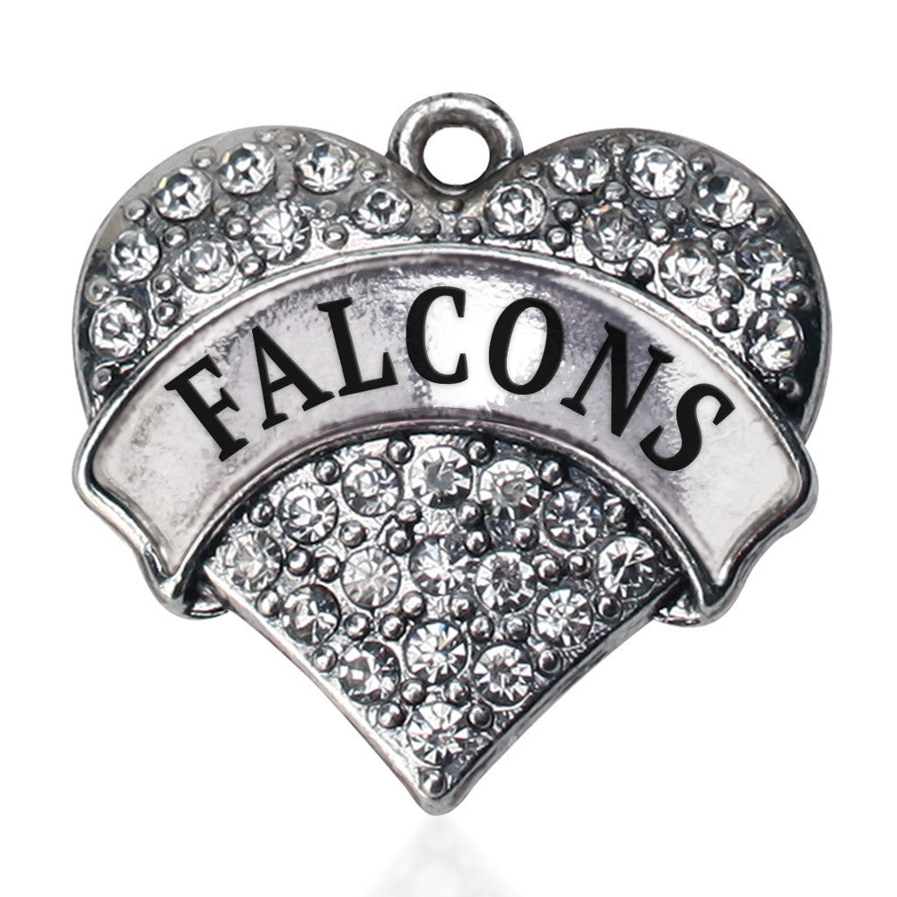 Falcons Pave Heart Charm