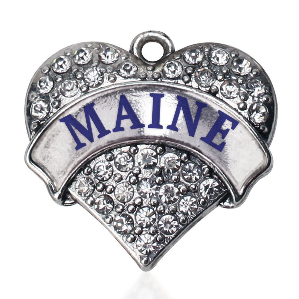 Maine Pave Heart Charm