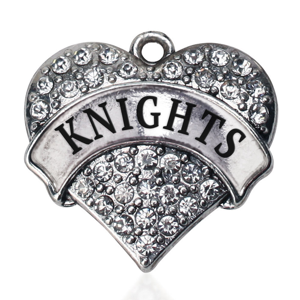 Knights  Pave Heart Charm