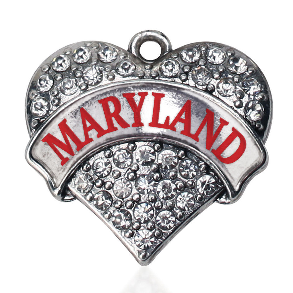 Maryland Pave Heart Charm
