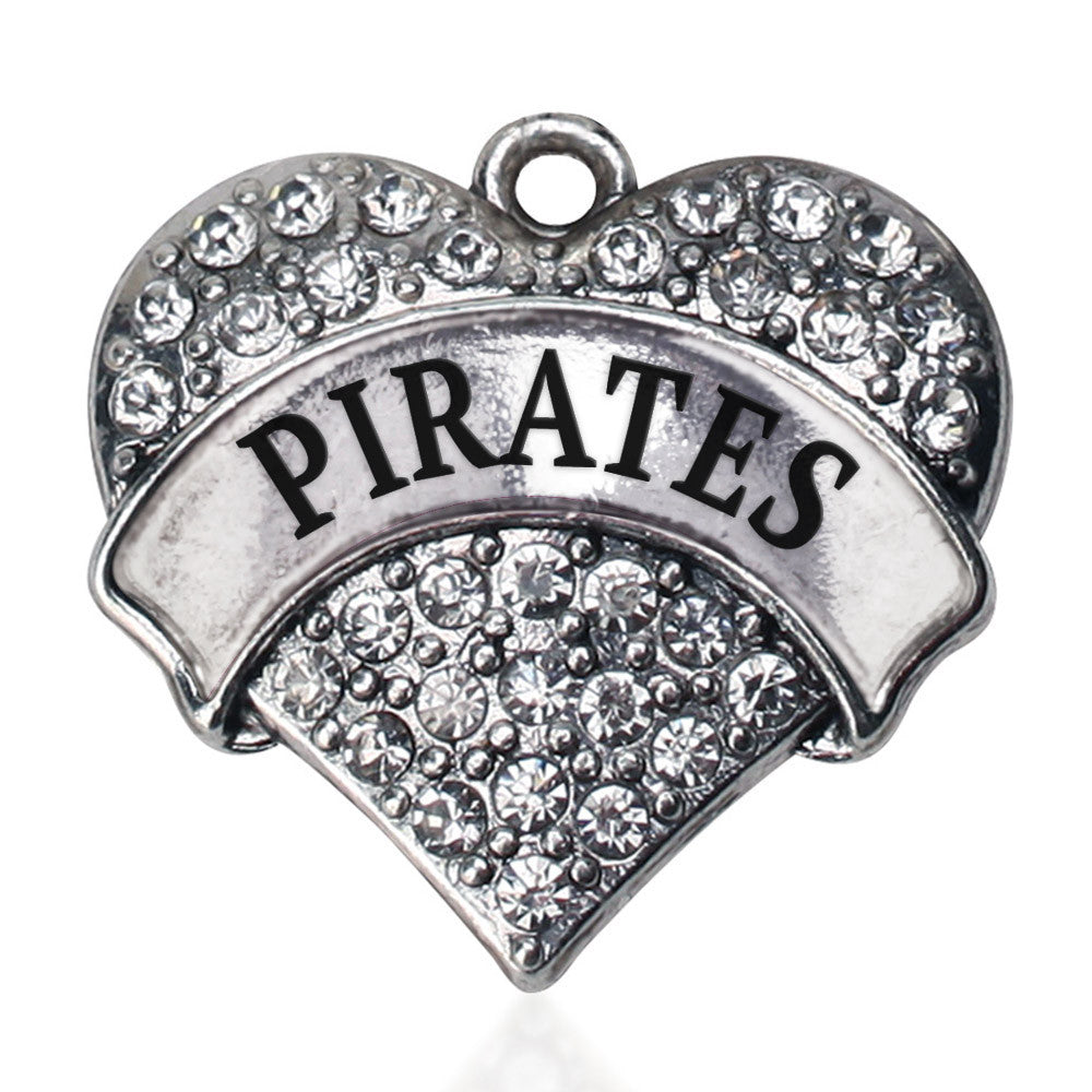 Pirates  Pave Heart Charm