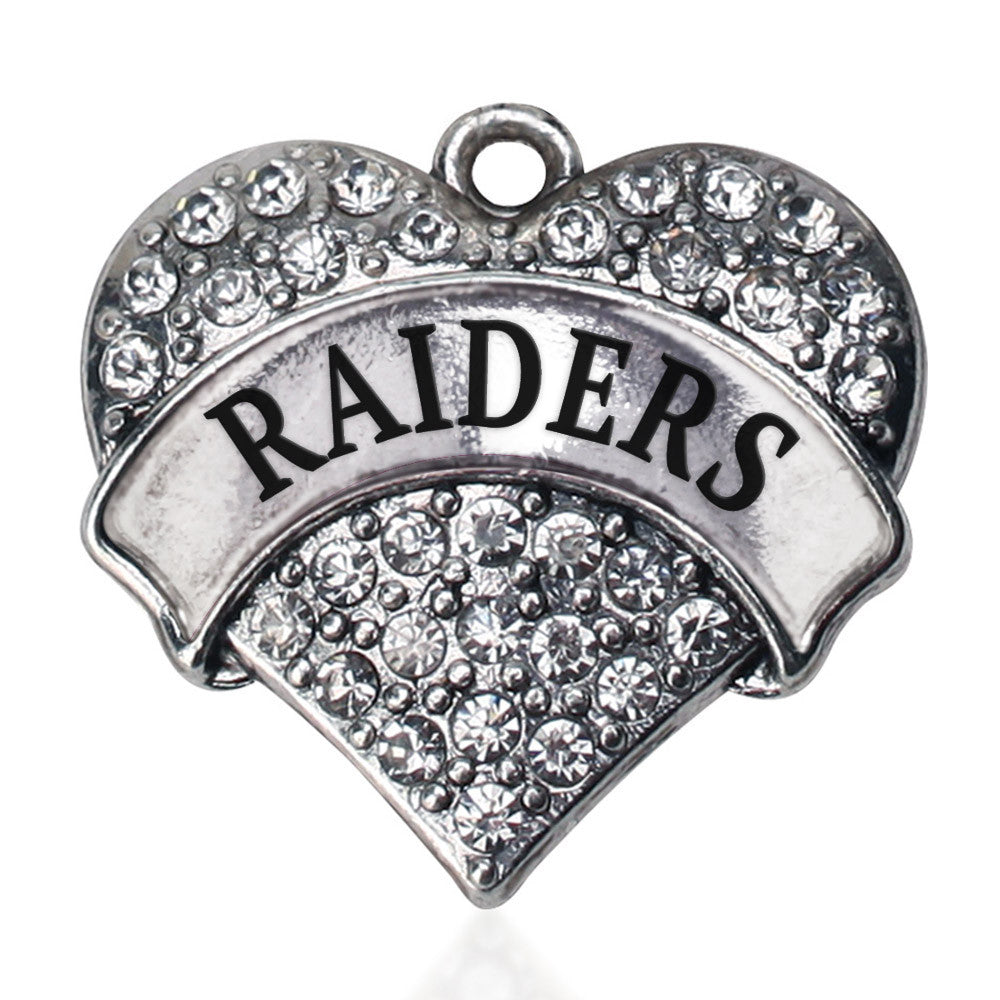 Raiders Pave Heart Charm