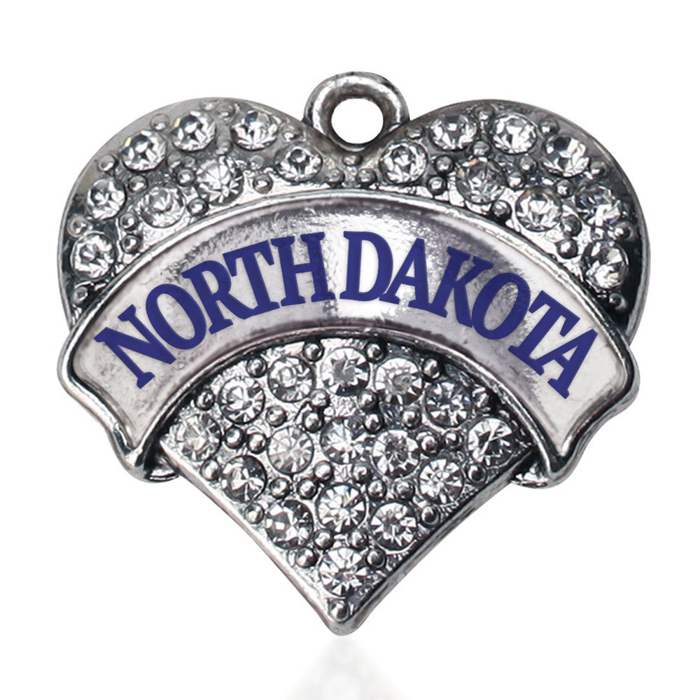North Dakota Pave Heart Charm