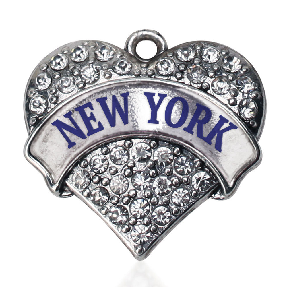 New York Pave Heart Charm