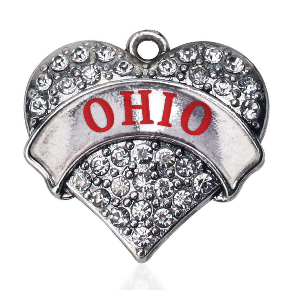Ohio Pave Heart Charm