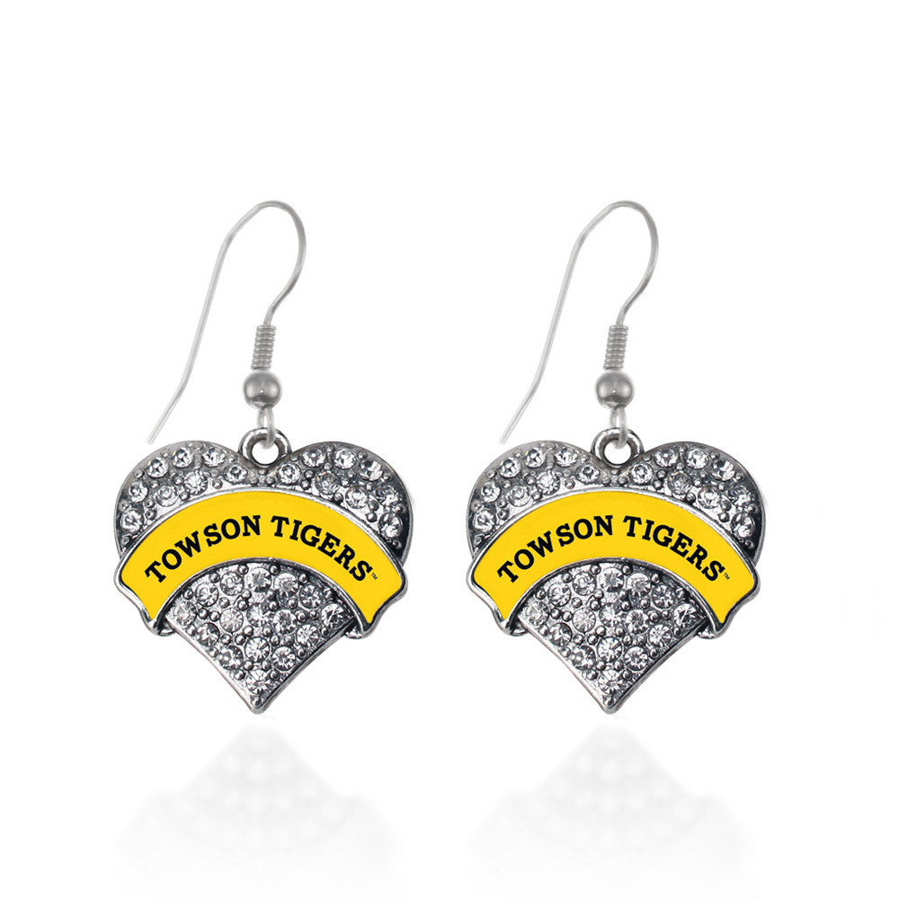 Towson University Tigers [NCAA] Pave Heart Charm