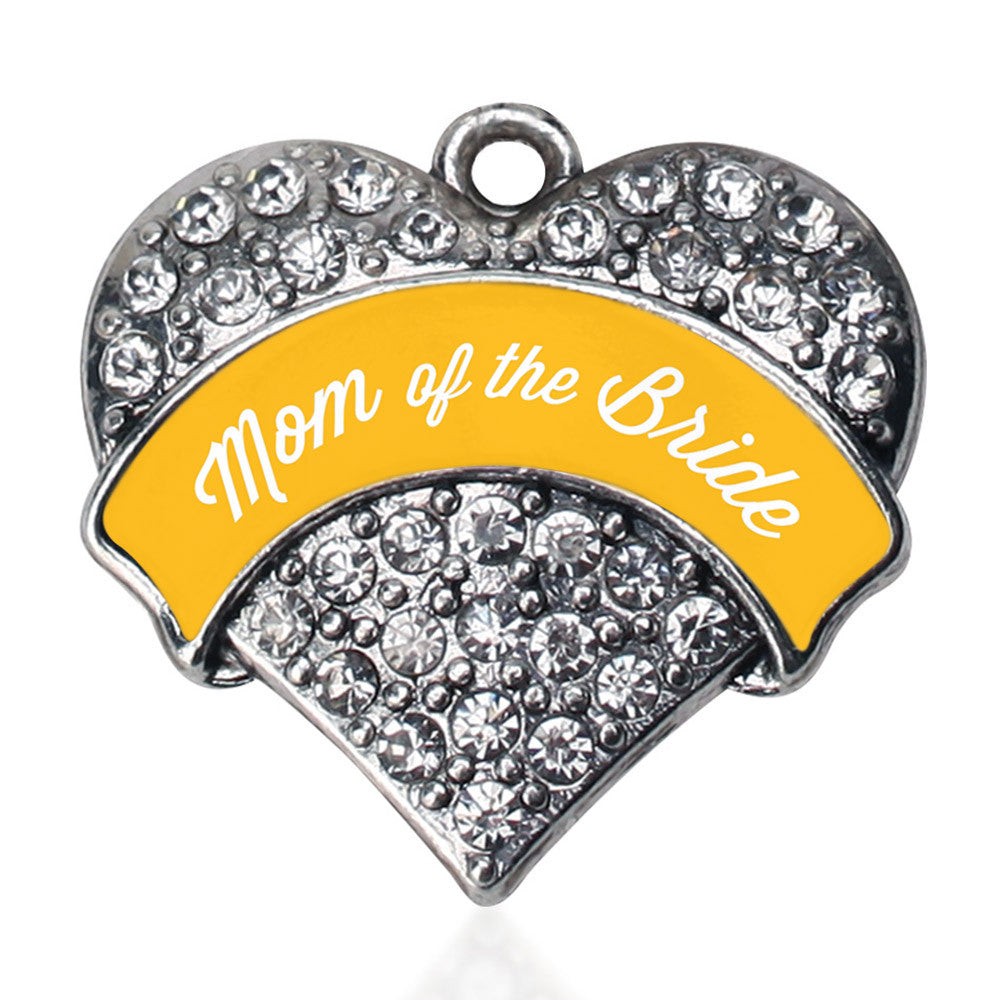 Marigold Mom of the Bride Pave Heart Charm