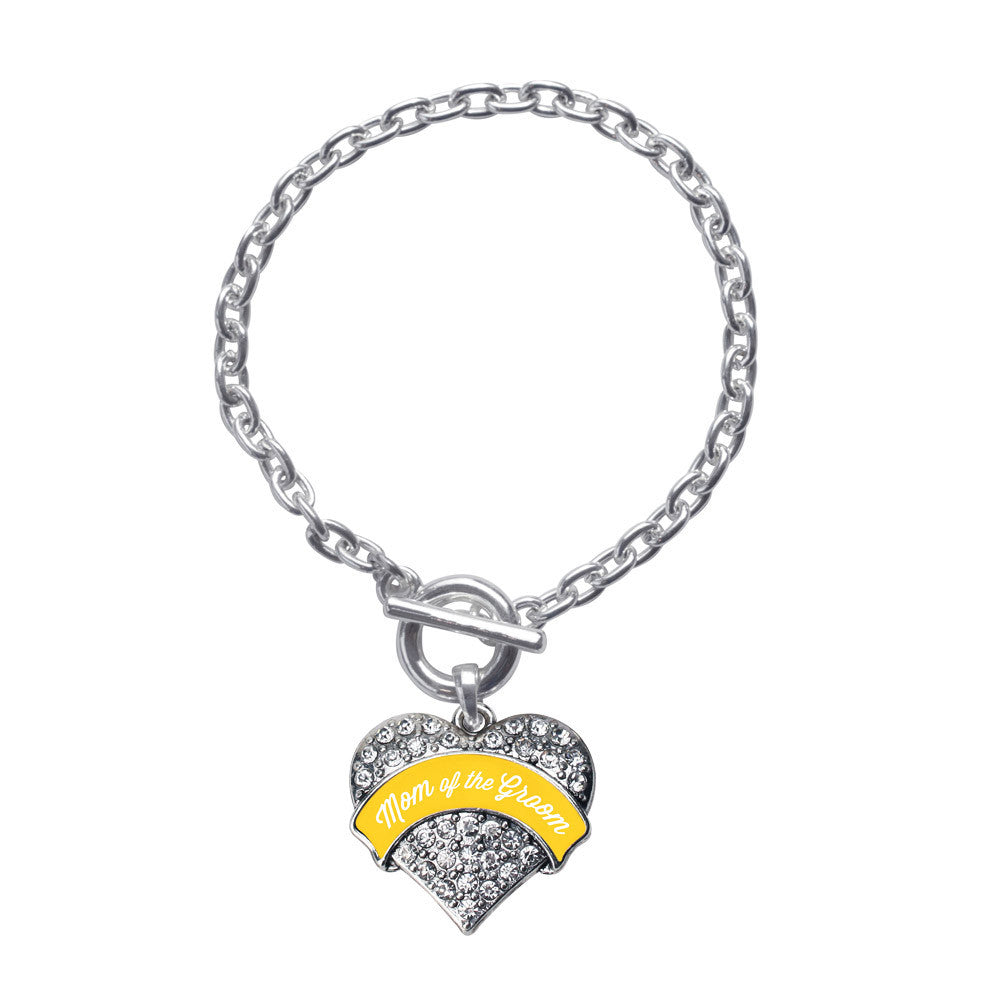 Marigold Mom of the Groom Pave Heart Charm