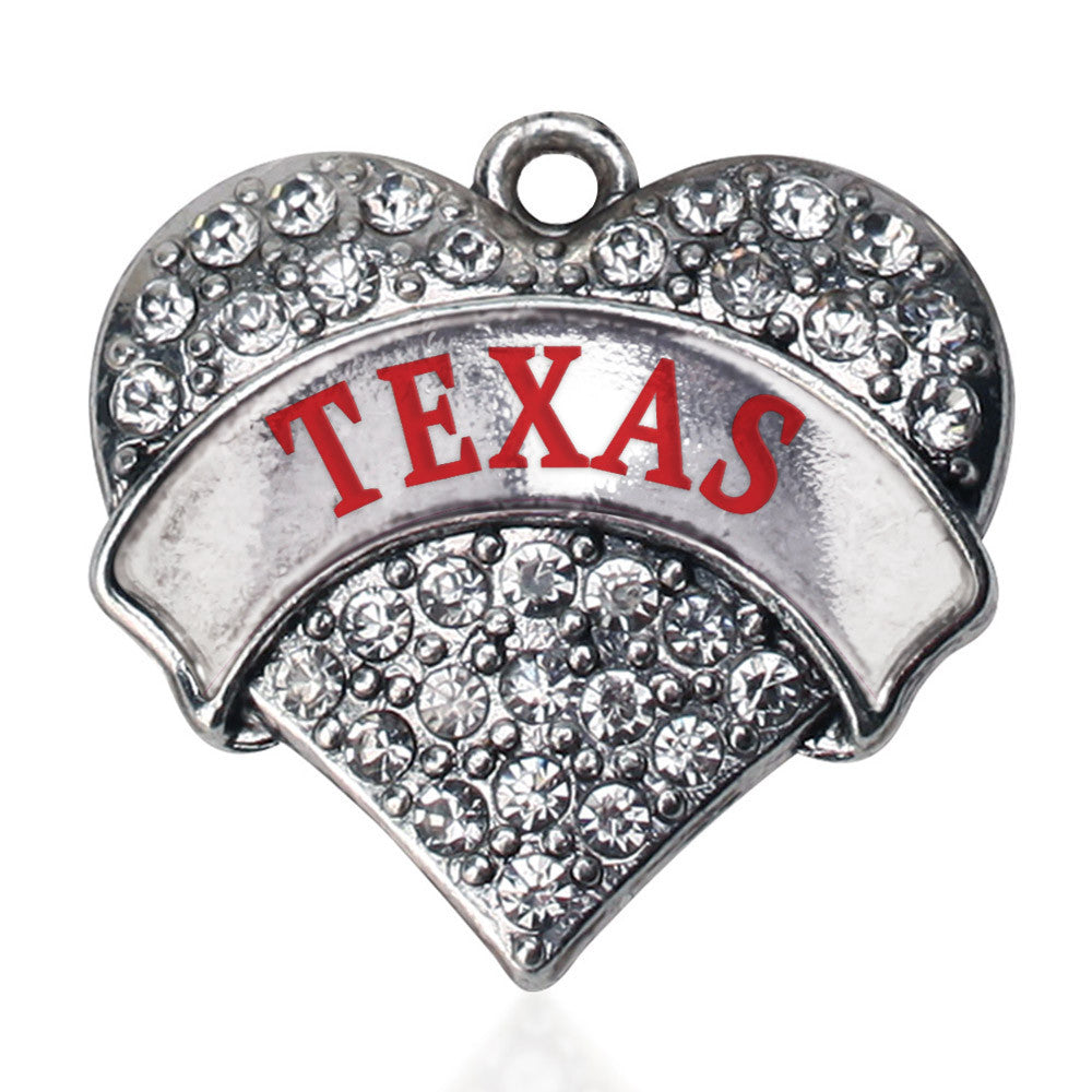 Texas Pave Heart Charm