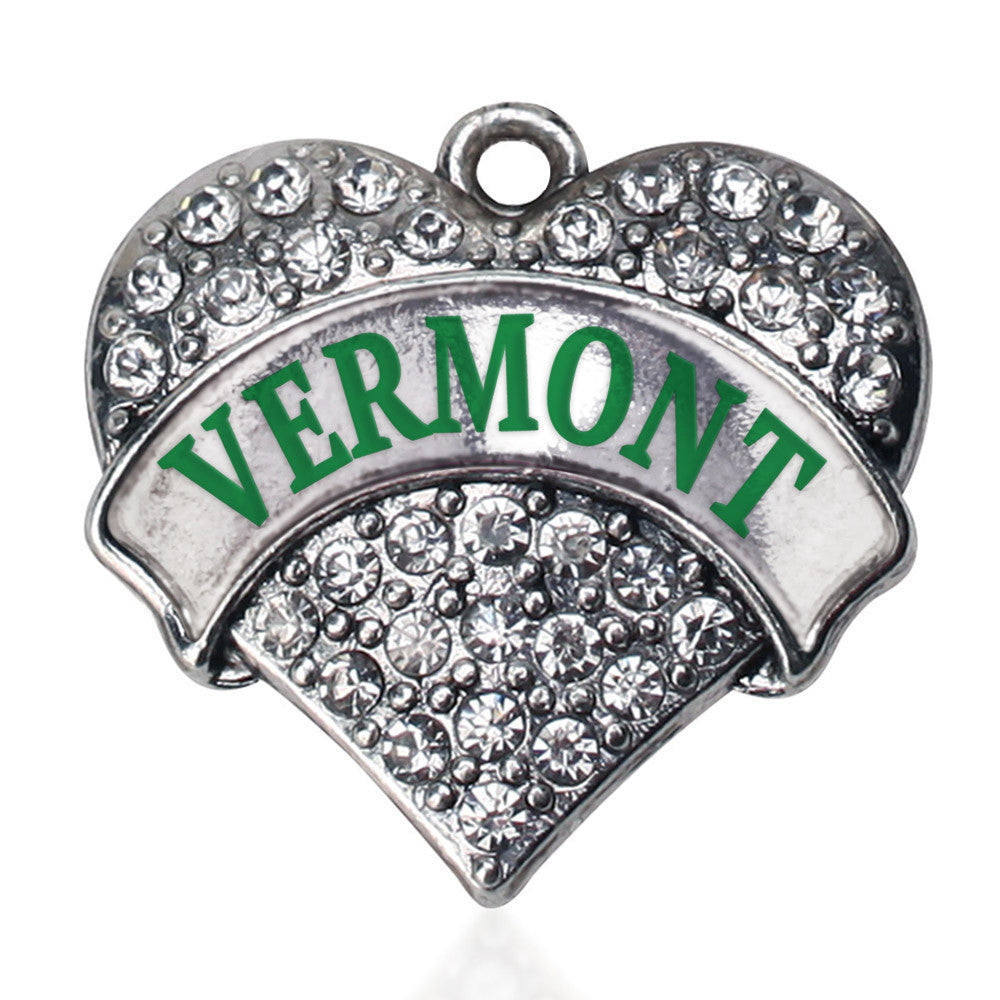 Vermont Pave Heart Charm