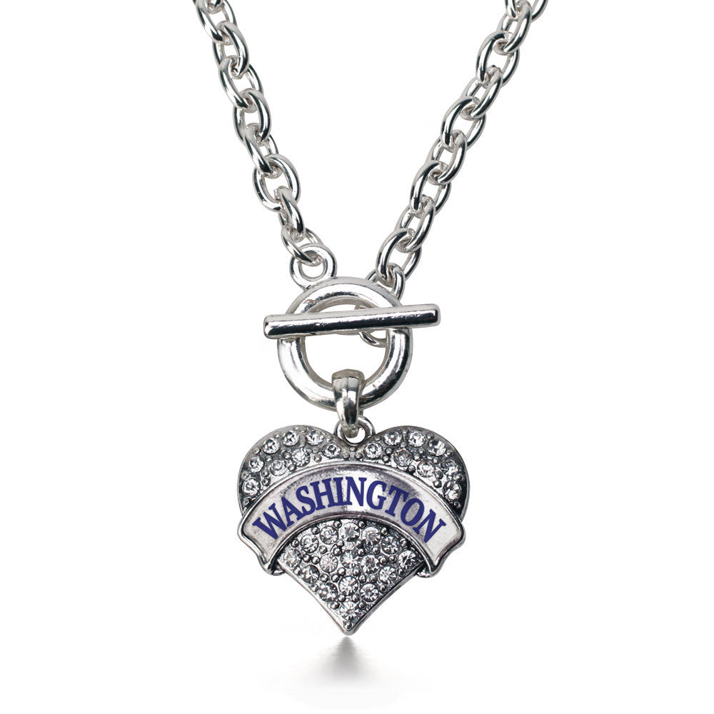 Washington Pave Heart Charm