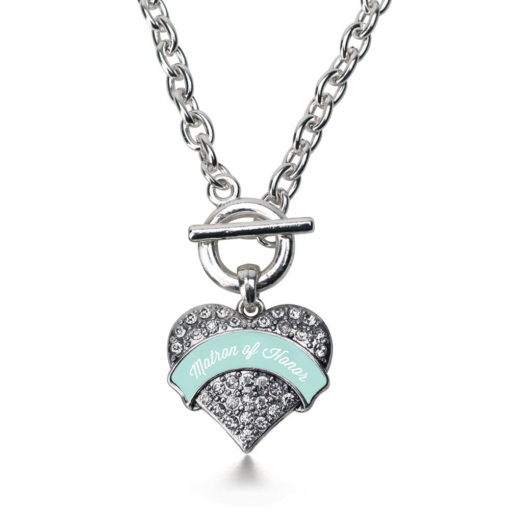Mint Matron of honor  Pave Heart Charm