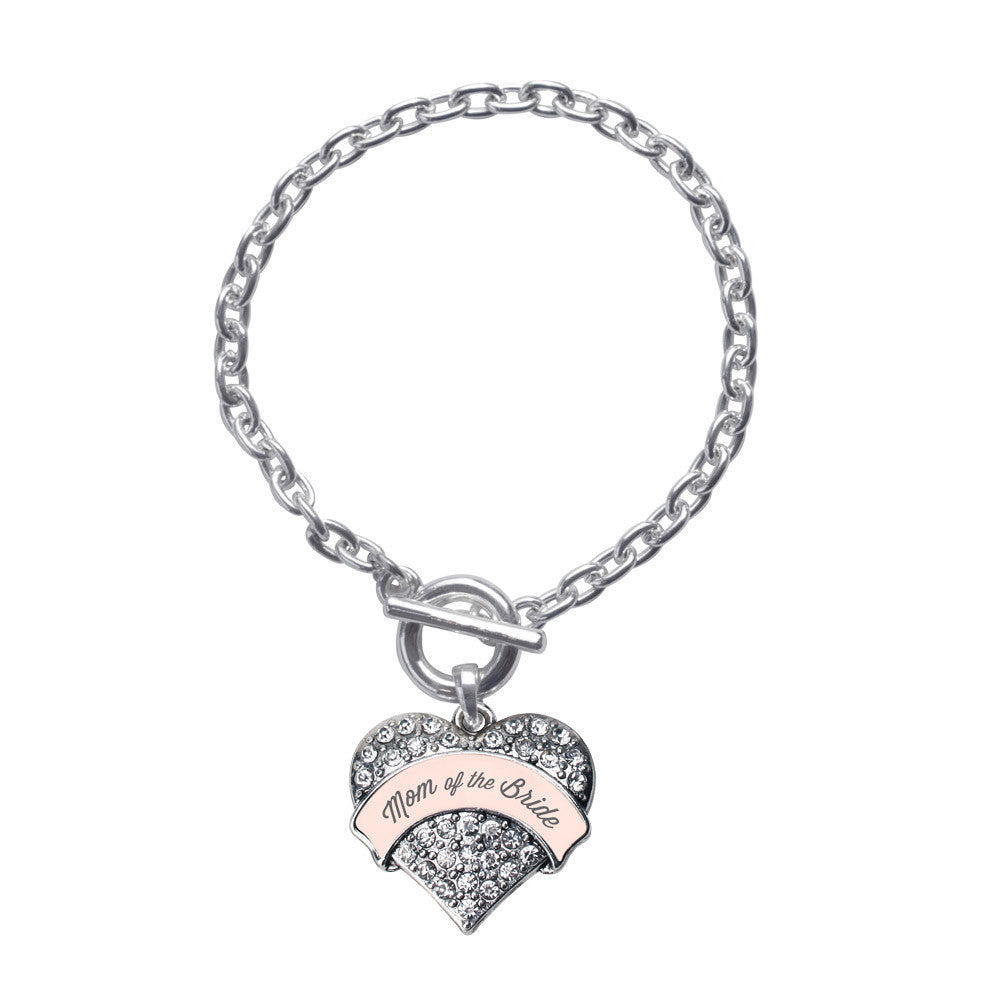 Nude Mom of Bride  Pave Heart Charm